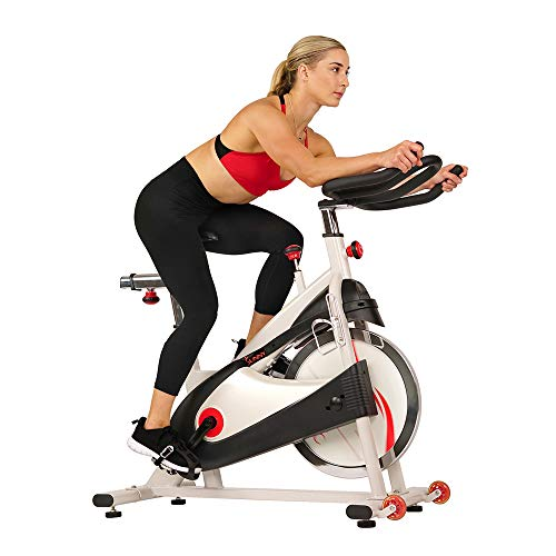 Save %15 Now! Sunny Health & Fitness Spin Bike Indoor Cycling Exercise Bike with SPD pedals - SF-B15...