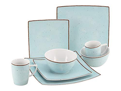 Creatable, 22703 New Elegance Vintage Nature - Vajilla (8 piezas, porcelana), color azul
