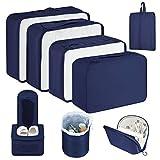 Newdora Packing Cubes - 8 PCS Travel Luggage Organizer Set High Quality Durable