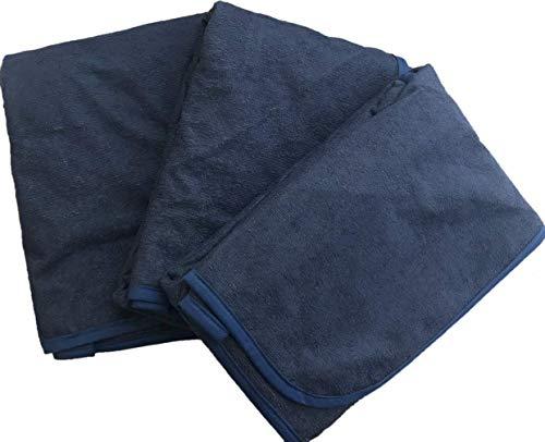 【tocoとふんわり生活】(100×140cm) ベビー防水シーツ ハーフサイズ 3枚セット(全11サイズ5色)デイリーパイル おねしょシーツ 介護シーツ/ネイビー