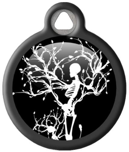 Gothic Winter Skeleton - Custom Pet ID Tag for Cats and Dogs - Dog Tag Art - Large Size