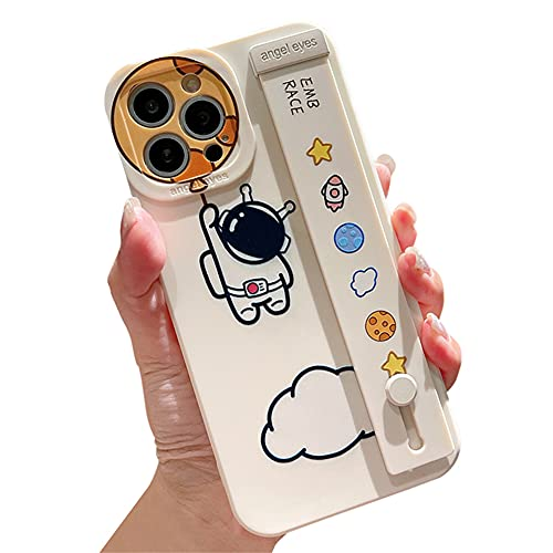 SGVAHY - Custodia divertente per Apple iPhone 7/8/SE2, design astronauta spaziale, design creativo con cinturino da polso e supporto per telefono sottile, antiurto, custodia protettiva