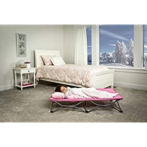 Regalo My Cot Portable Toddler Bed, Includes Fitted Sheet, Pink