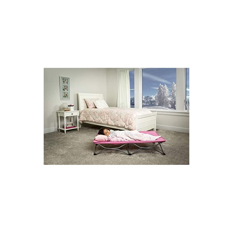 crib bedding and baby bedding regalo my cot portable toddler bed, includes fitted sheet, pink