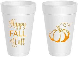 Thanksgiving Styrofoam Cups - Happy Fall Y'all