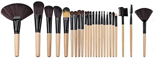 YNNB Pinceaux De Maquillage Pinceau De Maquillage Ensemble D'Outils Trousse De Toilette De Maquillage Pinceau Cosmétique en Nylon Brosse pour Les Yeux 24Pcs 1 (Couleur, Café), Café