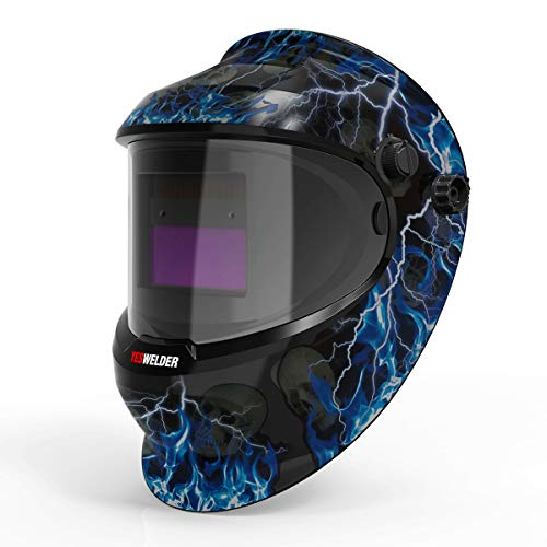 YESWELDER True Color Solar Powered Auto Darkening Welding Helmet,Adjustable Shade Range 4/9-13 Welder Mask Hood for TIG MIG ARC