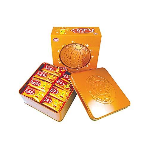 亀田製菓 ハッピーターン 缶4袋 1缶当たり97円 [0666]
