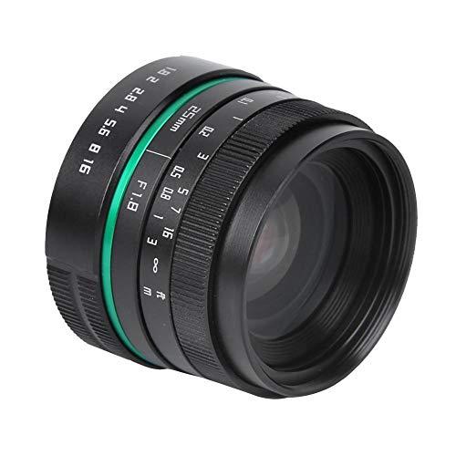 Spiegelloze cameralens, Handmatige half-frame lens, Handmatig instelbaar diafragma, landschapsportretfotografie, Geschikt voor Fuji FX-vatting, Fuji FX-vatting, Canon EF-M-vatting