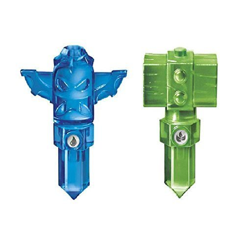 Lot of 2 Traps ~ Skylanders Trap Team Green Life Hammer Trap & Blue Tiki Trap by unbranded