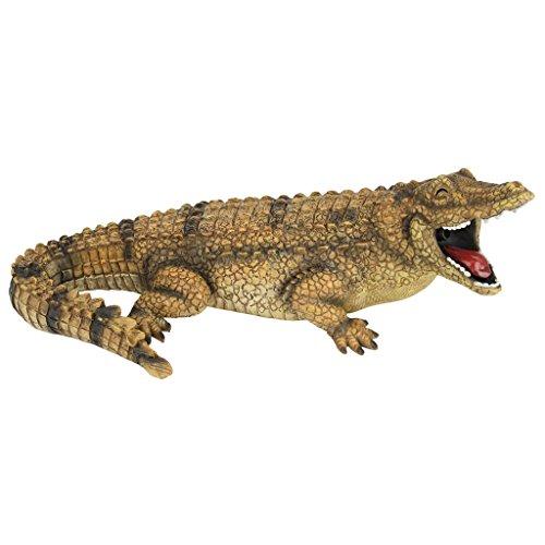 """Design Toscano QM2608000 Wasserspeier """"Striker, der Alligator"""", Resin, Mehrfarbig, 19 x 33 x 12.5 cm"""