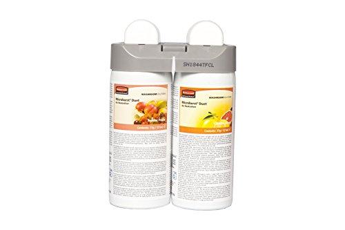 Rubbermaid Commercial Products Microburst Duet Nachfüllset für Raumlufterfrischer, Sorten Tender Fruits und Citrus Leaves