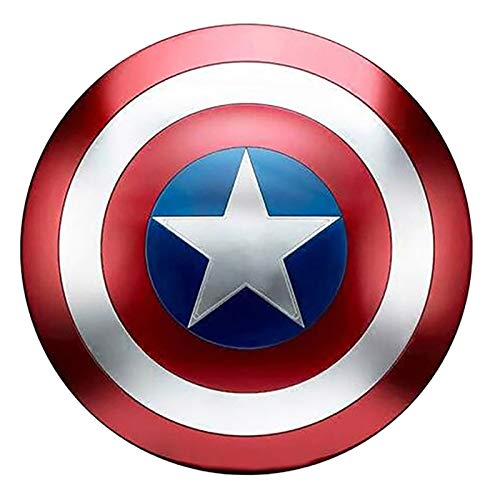 Captain America Schild, Metal 47Cm Kinder Superhelden Kostüm Handheld Requisiten, Marvel Legends Series Avengers Schild, Bar Kreative Weiche Wanddekoration A