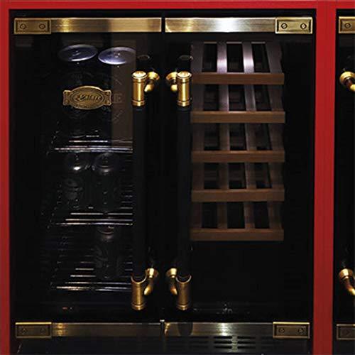 Kaiser K 64800 AD Retro Weinkühlschrank, 20 Weinflaschen, 63 Bierdosen, LED Display, Freistehend/Unterbau,2 Klimazonen,Kühlschrank für Wein und Bier,Dual-Zone, LED Display,5 herausziehbare Holzregale