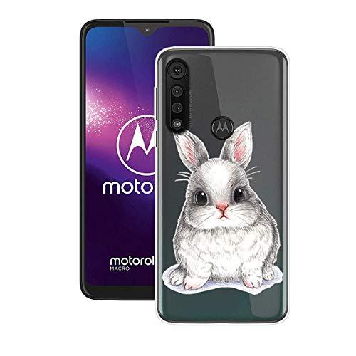 DQG Anti-Fall Schutzhülle für Motorola One Macro Hülle, Weiche Handytasche Transparent TPU Handyhülle Silikon Tasche Schale rutschfest Hülle Cover für Motorola One Macro (6.20