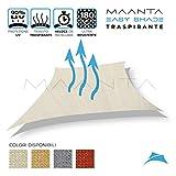 Maanta EasyShade - Cortinas con toldo EasyShade Breathable-HDPE 180 g/m², Color Marfil