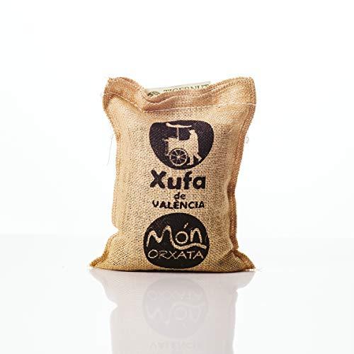 Saco yute 1 kg Chufa tradicional D.O. València - Món Orxata. Directa de familias agricultoras. Ideal para consumo en crudo o para elaboración de horchata. Conservar a menos de 15º.