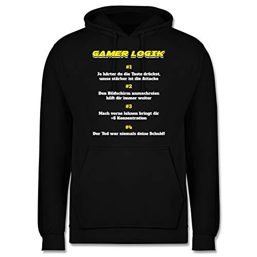 Shirtracer Nerds & Geeks - Gamer Logik - XL - Schwarz - lustige sprüche Hoodie Herren - JH001 - Herren Hoodie und Kapuzenpullover für Männer