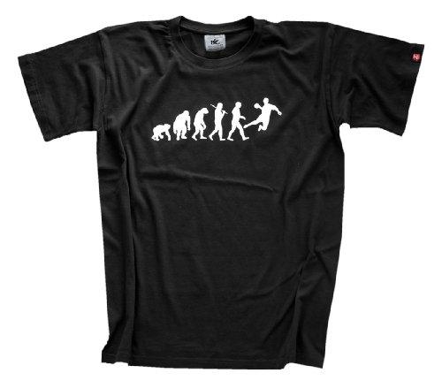 Shirtzshop Erwachsene Original Handball Evolution T-Shirt, Schwarz, XXXL