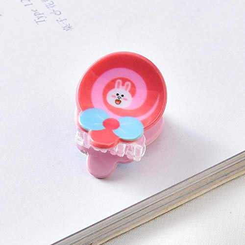 Tocado de horquilla Niña Zanahoria Pinza de captura Tarjeta de bebé Niña Conejo, Piruleta rosa