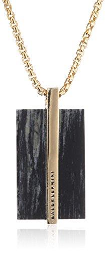 Baldessarini Herren-Halskette Venezianerkette 925 Silber gelb vergoldet Jaspis mehrfarbig 55 cm - Y2141N/90/Z6/55