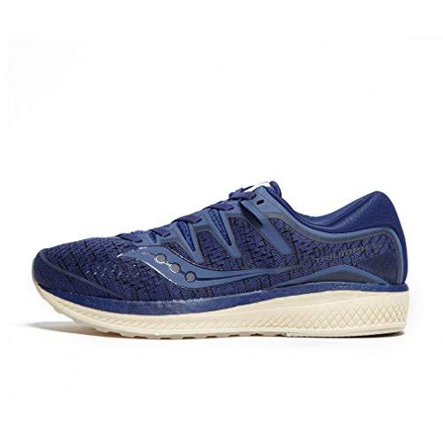 Saucony Men Triumph Iso 5 Neutral Running Shoe Running Shoes Dark Blue - Dark Grey 12