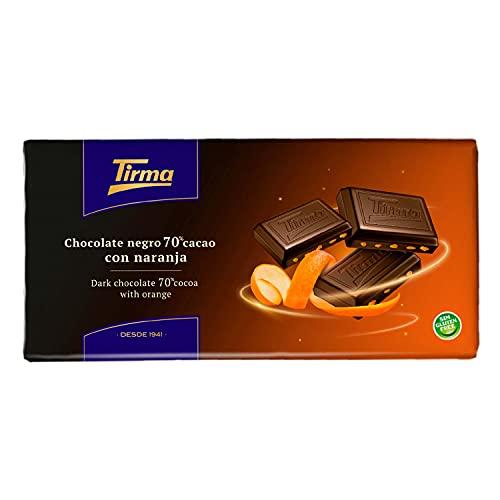 Chocolate negro 70% Cacao con Naranja