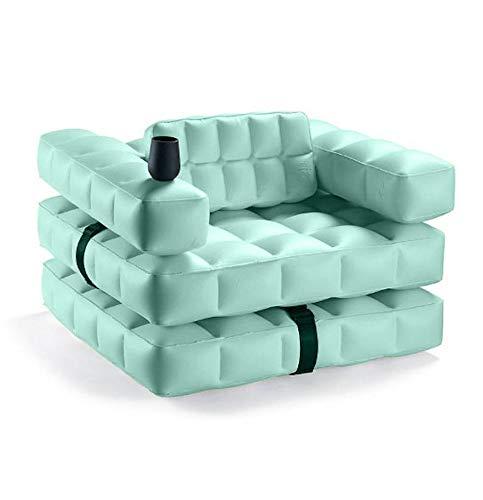 Pigro Felice Modul'Air 3-in-1 zwembad float/ligstoel opblaasbare stoel, PVC-kunststof, aquamarijn, 117x117x72 cm