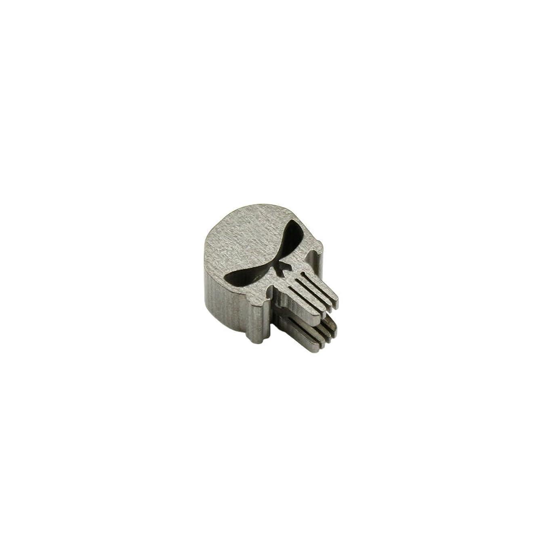 Long Teeth Punisher Skull Shape Titanium Knife Lanyard Bead EDC Zipper Pull 550 Paracord Necklace Bead Pendant