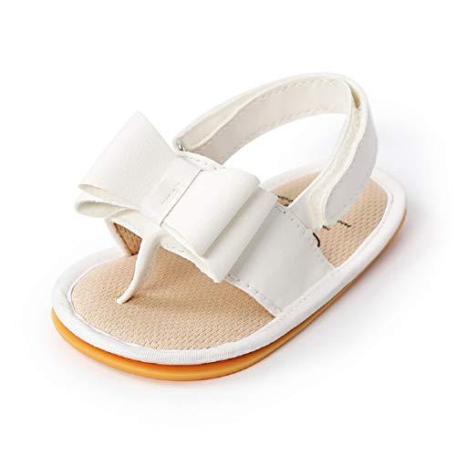 Sandalias de Bebé Niña para 0-18 meses, Zapatos de Verano para Bebé Pequeños con Antideslizante Suela Blanda Zapatillas Primeros Pasos