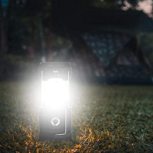 WXking LED Cargando Camping Luz portátil Solar Portátil Líquería LED Linterna Blackout Impermeable Tienda de Tienda Iluminación Luz Accesorios Usados Aire libre En Emergencias Energía Poder Camping-