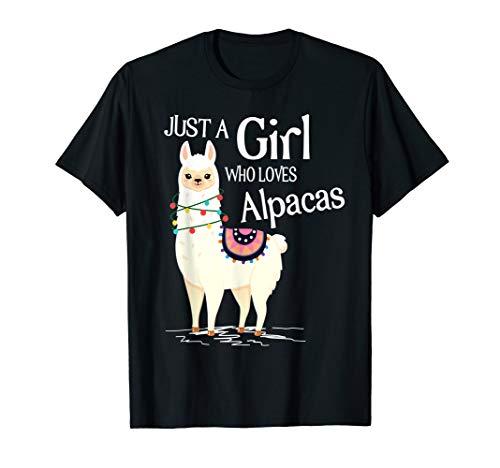 Just A Girl Who Loves Alpacas Shirt | Süßes Alpaka Spruch T-