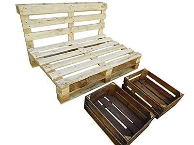 SOFÁ realizado con palets de madera. 2 plazas MEDIDAS: 120 x 80 x 30( asiento) x 80 (respaldo desde suelo) cms MATERIAL PALETS de MADERA DE PINO MEDIDAS: 120 x 80 x 46 cms el respaldo / PESO 35 KG TODOS NUESTROS PALETS ESTÁN TRATADOS contra plagas y ...
