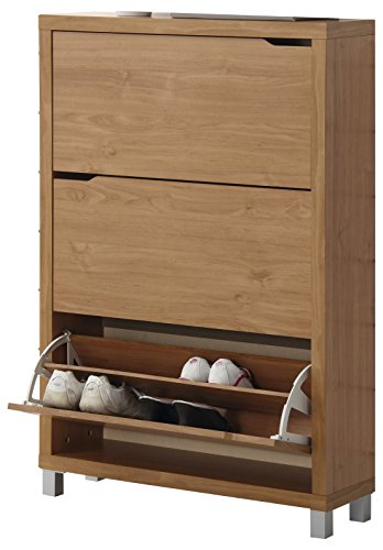 Kit Closet Zapatero kubox, Cerezo, 3 Puertas