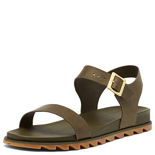 Sorel Women's Roaming Decon Ankle Strap Sandal - Olive Green - Size 12