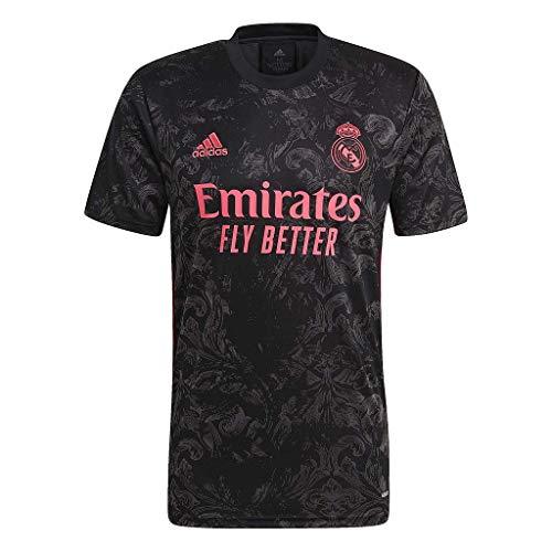 adidas Real 3 JSY Camisetas, Hombre, Negro, L