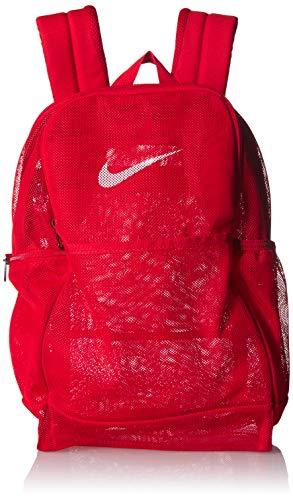 NIKE Brasilia Mesh Backpack 9.0, University Red/University Red, Misc