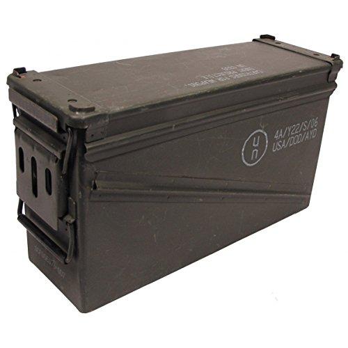 MFH Gebrauchte Größe 5 US Army Munitionskiste 46x15,5x25 cm Werkzeugkiste Box Metallkiste GC Versteck Metallbox