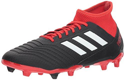 adidas Men's Predator 18.3 FG Soccer Shoe, Black/White/red, 7.5 M US