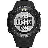 Reloj Multifuncional para Hombres, Resistente al Agua, natación, Reloj electrónico, indicador de Fecha, Luminoso, Despertador, para Hombres/Adolescentes/niños-A