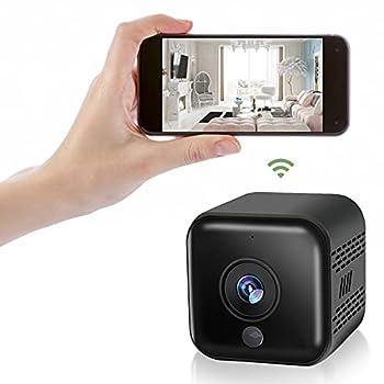 YIUAEVL Mini Spy Camera WiFi Hidden Camera Video Recording Wireless Hidden Spy Cam Nanny Camera IR Cut Auto Night Vision Home Security  Motion Activated Alarm 2021 Upgraded Phone APP