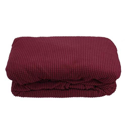 TuToy Överdrag för Ikea Klippan 2-sits soffa sätesskydd kasta Loveseat bomull twill – röd