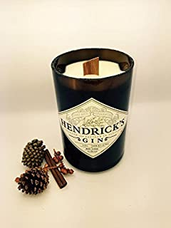 HENDRICK'S Gin Soy Candle- Cut Bottle- Scented