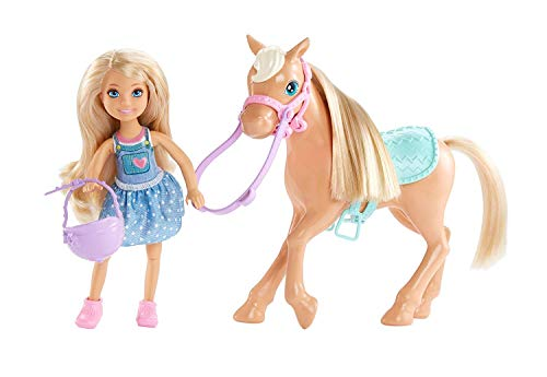 Barbie DYL42 Chelsea en paard, meerkleurig