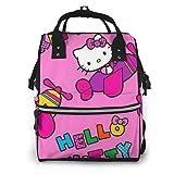 Pilot Hello Kitty Bolsa de pañales para mamá, multifunción, gran capacidad, mochila de viaje