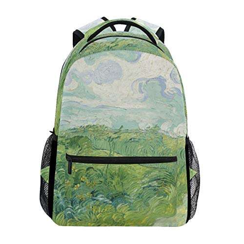 Daypack di campeggio d'escursione di escursione di viaggio del sacchetto di libro degli zaini del computer della scuola delle ragazze dei ragazzi di arte floreale della pittura a olio del fiore