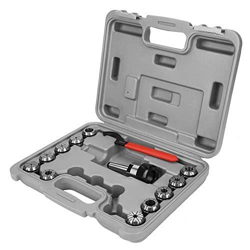 Busirsiz Caja de almacenamiento, Precision ER32 Juego de portabrocas + soporte de mango MT2 + llave para fresadora con caja de herramientas industriales