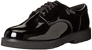 Bates Men s High Gloss Duty Oxford Uniform Dress Shoe Black 16