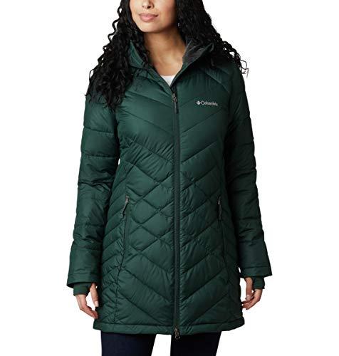 Columbia Women's Heavenly Long Hooded Jacket, Spruce, Large