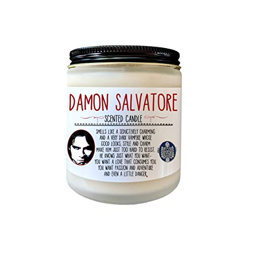 Damon Salvatore Vampire Diaries Candle Vampires Fangirl Mystic Falls The Vampire Diaries Gift Scented Candle Fandom Candle Bookish Candle
